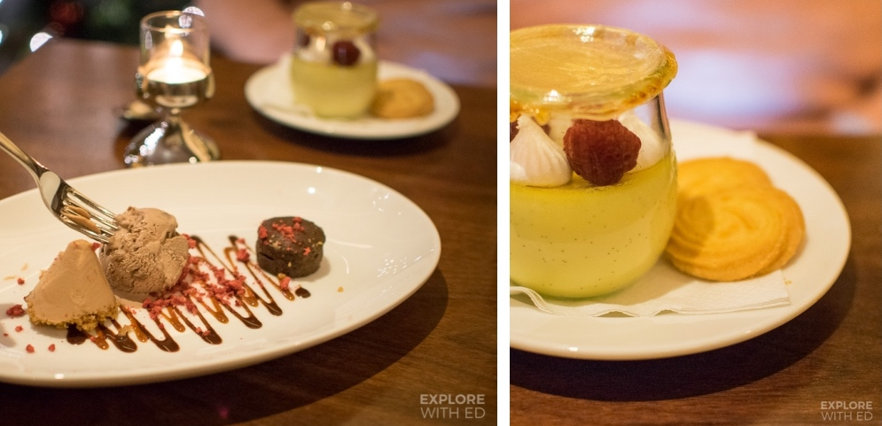 Selection of Desserts from Tempus at Tides