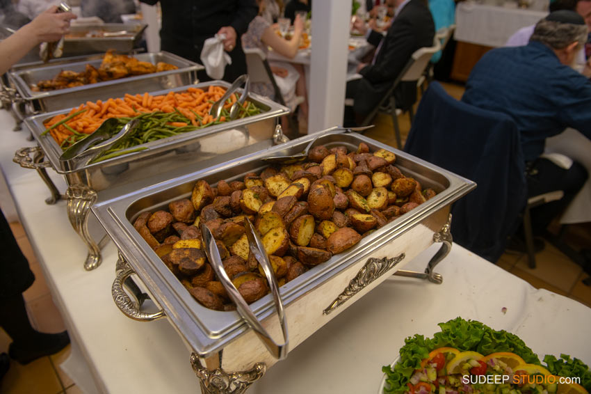 Orthodox Jewish Wedding Photography Best Food by SudeepStudio.com Ann Arbor Wedding Photographer