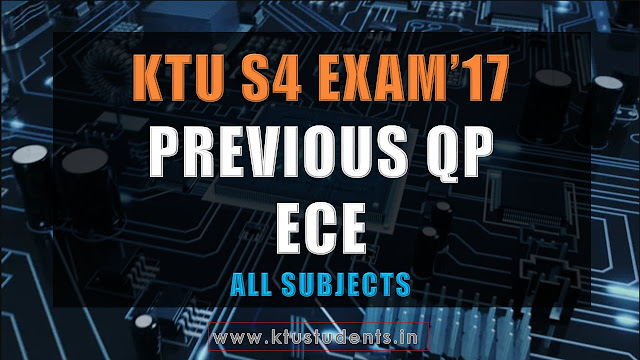 ECE KTU S4 previous qp