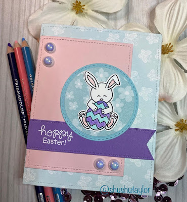 Hoppy Easter by Shushutaylor features Hop Into Spring by Newton's Nook Designs; #newtonsnook