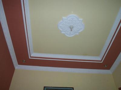 warna plafon gypsum minimalis terbaru