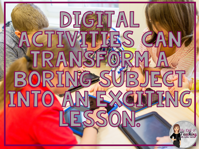Digital Activities can transform a classroom.