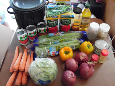 photo of cabbage soup ingredients