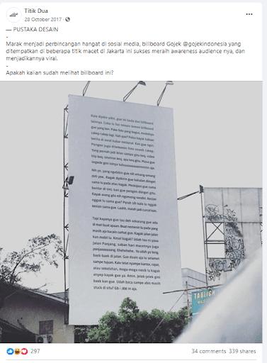Billboard Viral Gojek Indonesia Kemacetan