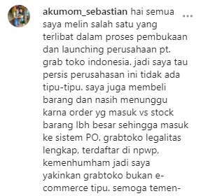 Beberapa Bukti Percakapan Di Beberapa Media Sosial Customer Dengan CS/Admin PT. Grab Toko Indonesia