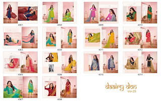 Angroop plus Daairy don vol 25 Dress Material