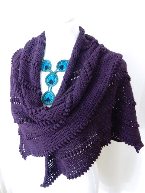 the curio crafts room thecuriocraftsroom crochet pattern shawl Moonwish wrap