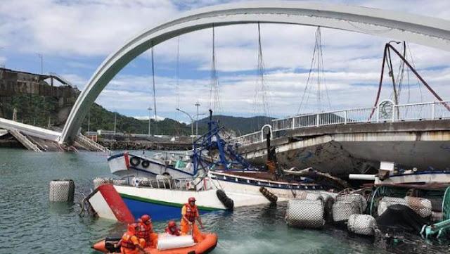 Jembatan di Taiwan Runtuh, 7 WNI Dilaporkan Jadi Korban