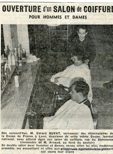 Riom 1963 ouverture d'un salon de coiffure Buvat.