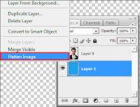 flatten image, cara menggabungkan semua layer menjadi satu di photoshop