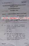 IGNOU Question Paper BCA Computer Basics and pc Software 2016
