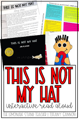 Click here to see everything included in the This Is Not My Hat Interactive Read Aloud.  Lesson plans, text dependent questions, daily independent tasks, vocabulary, crafts, anchor charts, and more can be found here!