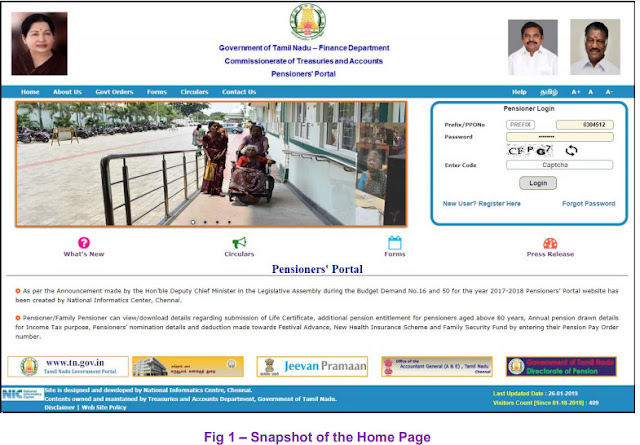 Pensioners' Portal  New user Registration