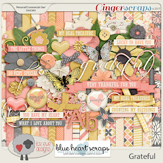 Ginger Scraps A Year of Blessings! November 2017 Challenge and Freebie