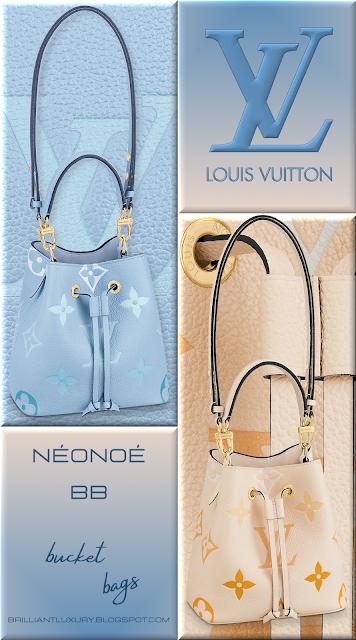 Louis Vuitton NéoNoé BB bucket bags in 2 different colours with Monogram Giant motif #bags #louisvuitton #brilliantluxury