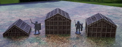 Painted tents and stakes fences picture 2
