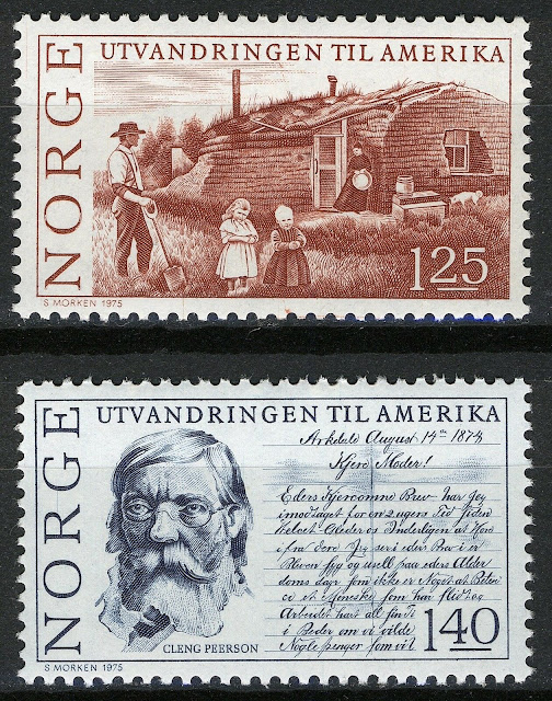 Norway 1975, Anniv Norwegian emigration to America