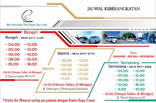 Jadwal Travel