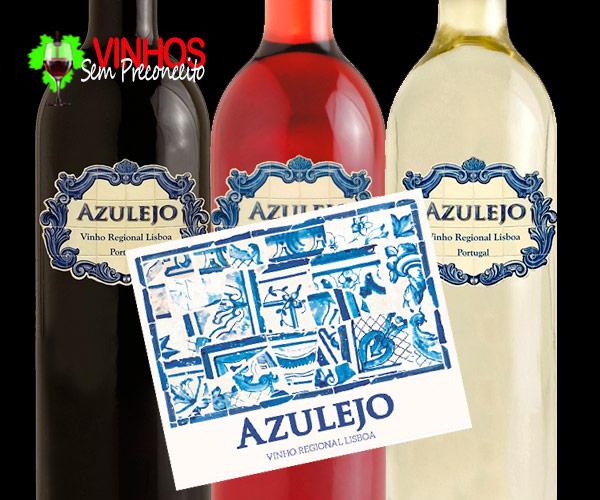 Vinhos Tinto, Rosé e Branco do Rótulo AZULEJO: Equilíbrio e prazer.