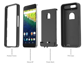 Meet Google Nexus 6P with a 8,500mAh battery case