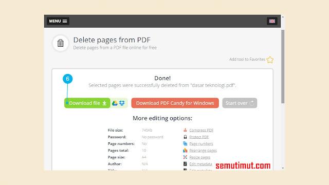 cara menghapus halaman pdf online free