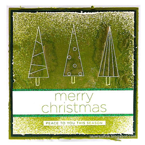 Layers of ink - Tree Card Tutorial by Anna-Karin Evaldsson. With Simon Says Stamp Cheer and Joy.