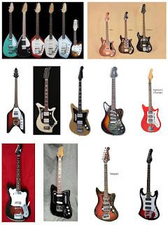 Старые электрогитары Италия, Англия, Голландия, Германия, Швеция
