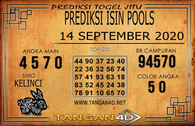 PREDIKSI TOGEL ISIN TANGAN4D 14 SEPTEMBER 2020