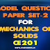 KTU Model Question Paper for Mechanics of Solids CE201 (Set2)
