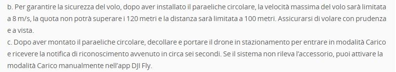 DJI Mavic Mini: prescrizioni DJI per la sicurezza del volo con i paraeliche ufficiali in dotazione alla versione Fly More Combo