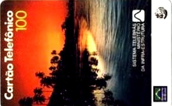 Cartão telefônico - Telebrás - Rio Tocantins