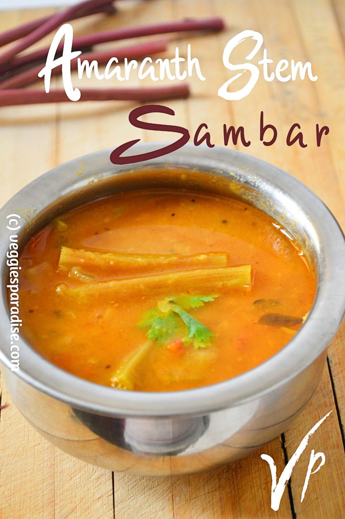 amaranth stem sambar