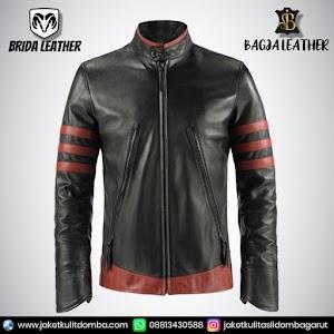Jual Jaket Kulit Asli Garut Pria Domba Original Brida Leather B03   WA 08813430588