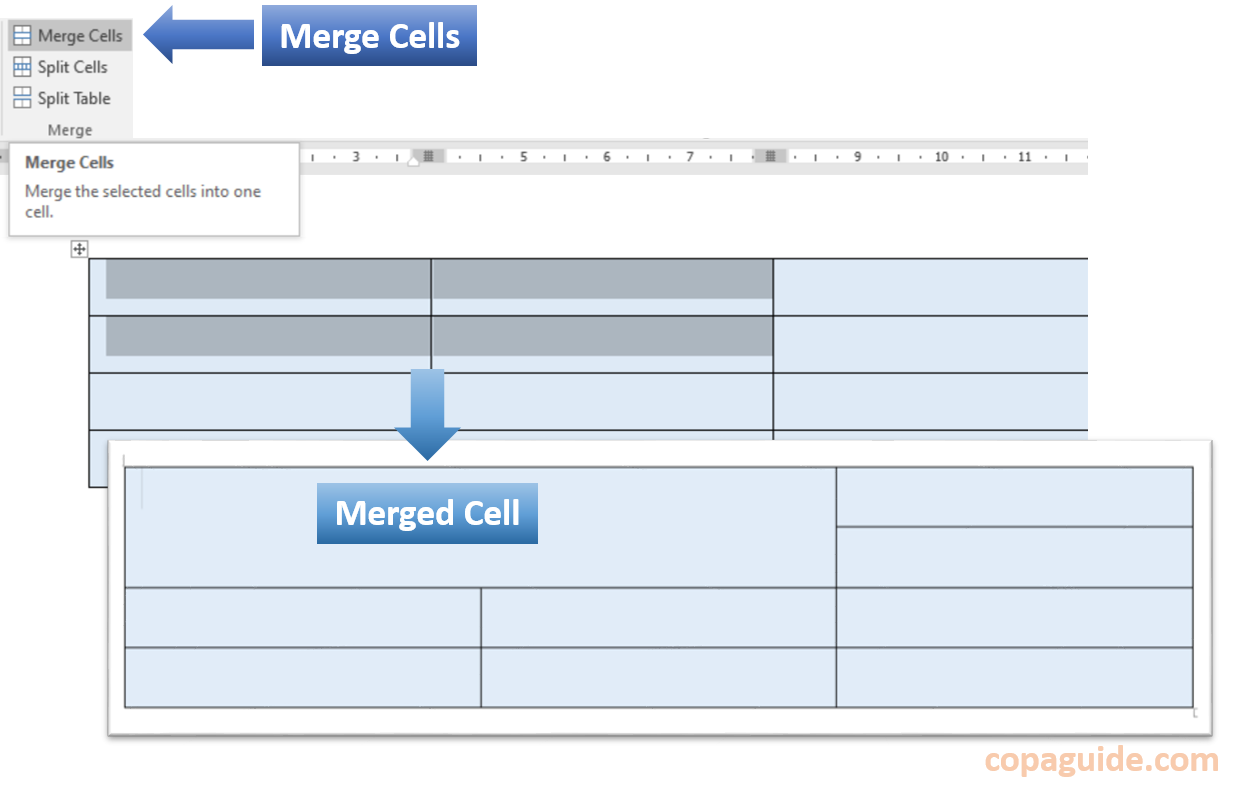How to Merge Cells in MS-Word Hindi Notes