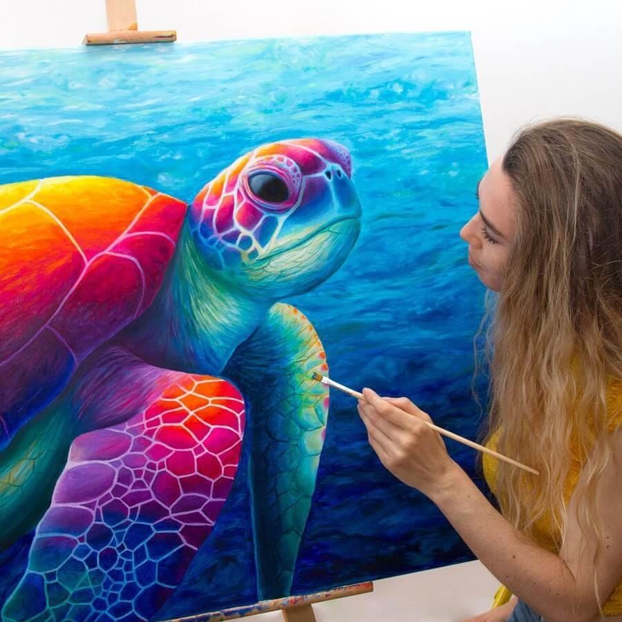 05-Sea turtle-Rachel-Froud-www-designstack-co