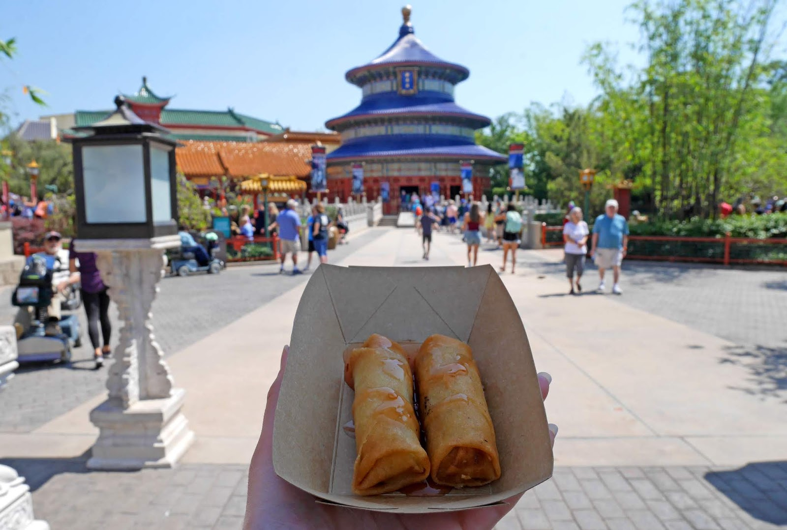 Spring rolls in the China Pavillion, Epcot International Flower and Garden Festival