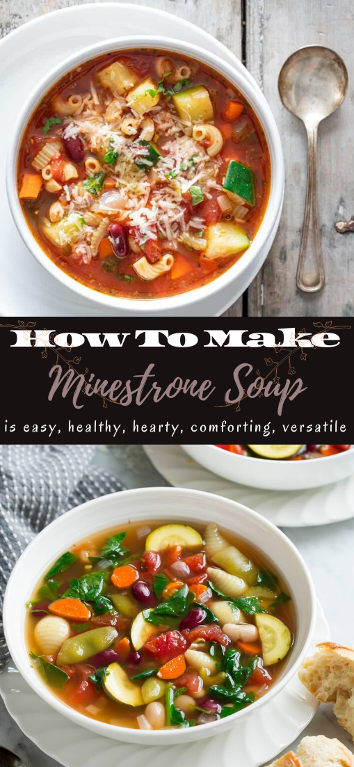 Minestrone Soup #vegan #vegetarian #soup #breakfast #lunch