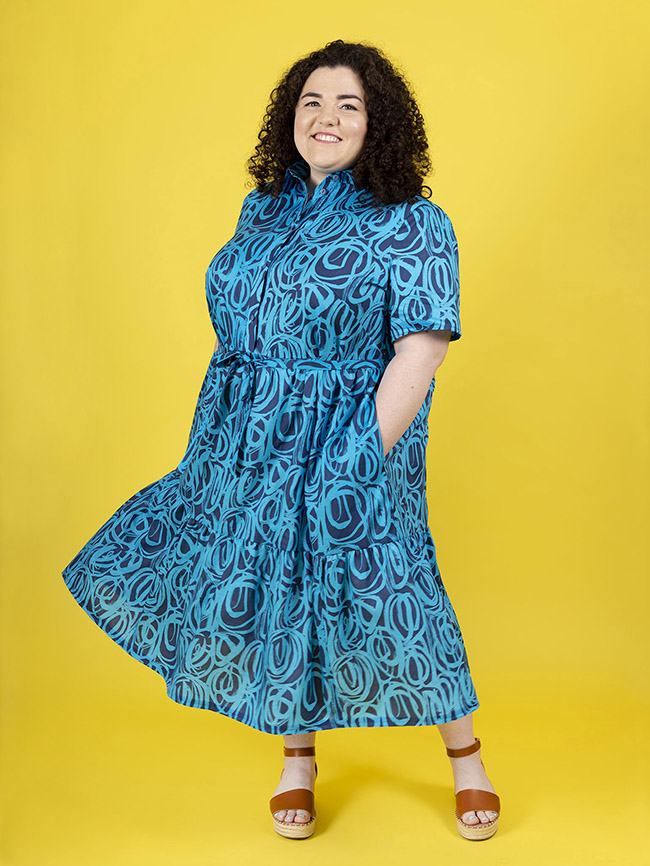 Lyra shirt dress sewing pattern by Tilly and the Buttons