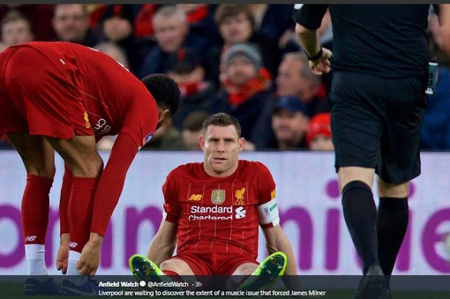 Serious Injury, James Milner Extends List of Liverpool Players Absent