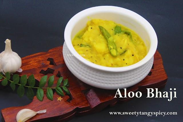 Potato Masala For Poori | Aloo Bhaji Poori Bhaji Recipe | Quick And Easy Potato Curry For Poori