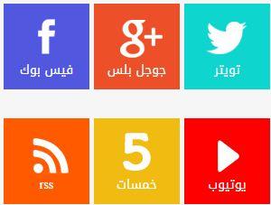 اضافة تابعنا عبر مواقع التواصل الاجتماعي على بلوجر