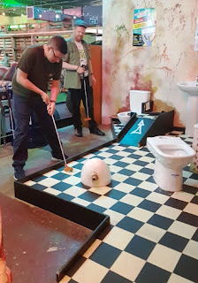 Caddyshackers Crazy Golf course in Leicester