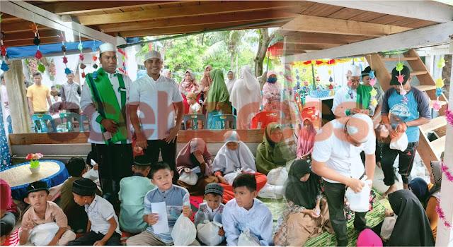Yusriadi Gencar Santuni 60 Anak Yatim di Balai Pengajian Darul Mutawwabin Bireuen