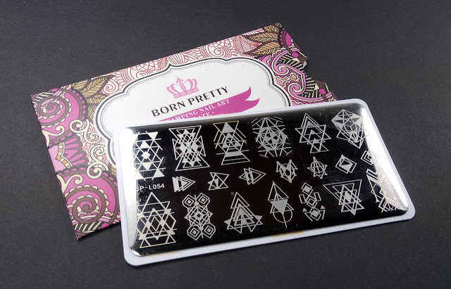 Born pretty store BP-L054 stampng plate with geometric design