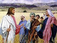 Jesus e Apóstolos parábola do Joio e do Trigo