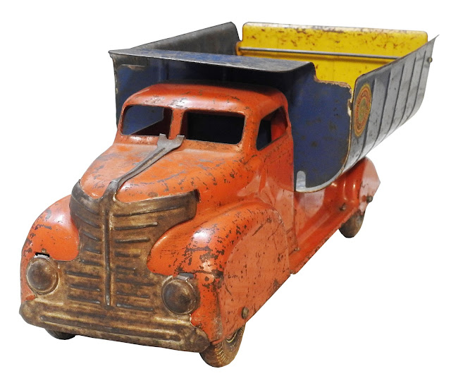 Old metal toy made by Louis Marx toys.