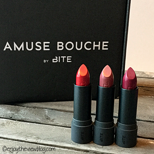 Bite Beauty's Amuse Bouche lipsticks: Gazpacho, Pepper, and Beetroot