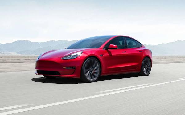 Tesla Model 3 2021 ganha atualização e mais autonomia