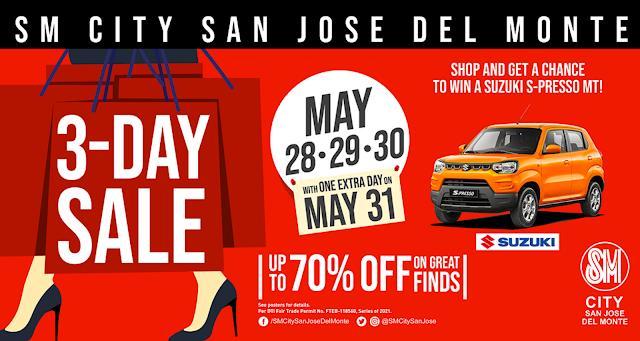 SM CITY SAN JOSE DEL MONTE 3-DAY SALE IS BACK!