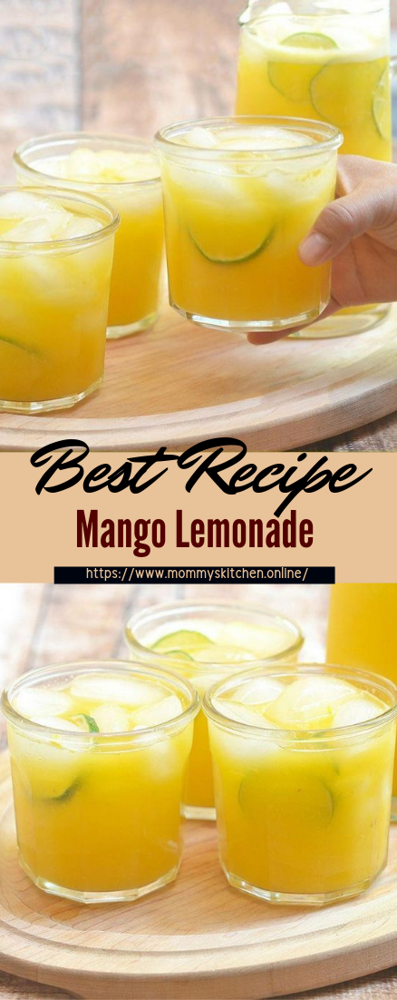 Mango Lemonade #healthydrink #easyrecipe #cocktail #smoothie